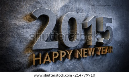 Happy new year 2015 concept in 3d