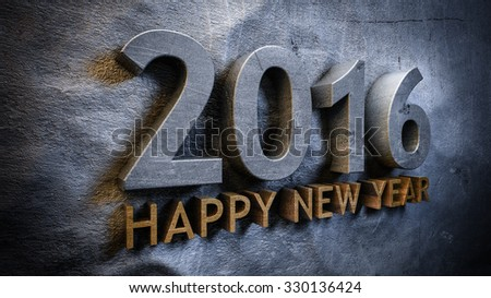 Happy new year 2016 concept in 3d - stock photo