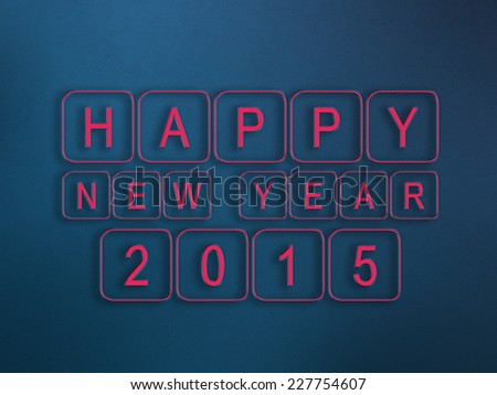 Happy New year,2015/ creative card design,Colorful background