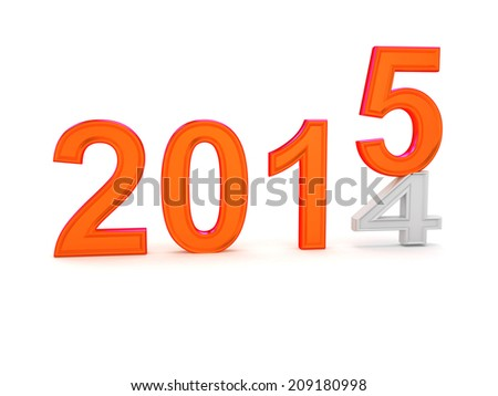 Happy New Year 2015. 3d