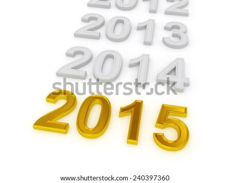 Happy New Year 2015. 3d - stock photo