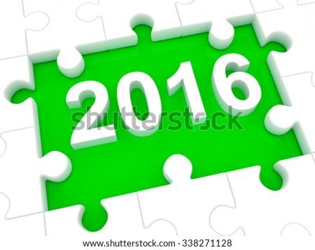 Happy New Year 2016. 3d - stock photo