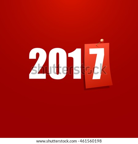 Happy New Year 2017 design card