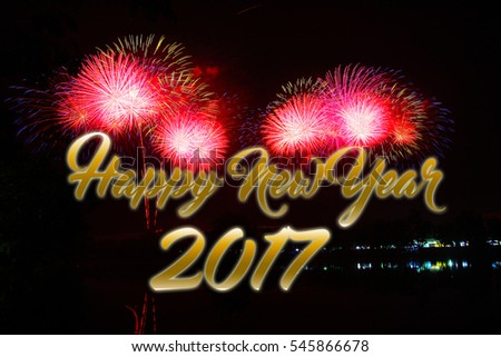 Happy new year fireworks 2017.