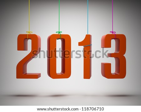 Happy New Year 2013 greeting card - stock photo