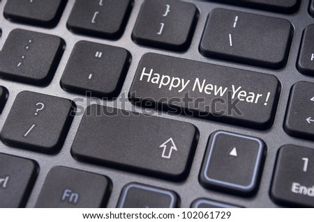 happy new year greetings and concepts.