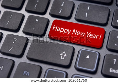 happy new year greetings and concepts. - stock photo
