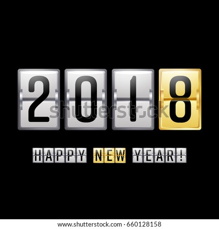 Happy New Year 2018. Happy Chinese New Year 2018 Greeting Background.