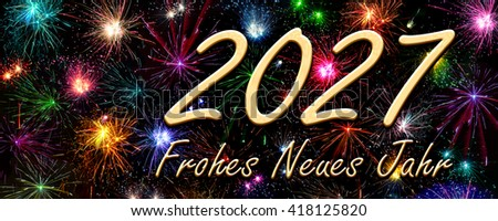 Happy New Year 2027 in German