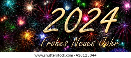 Happy New Year 2024 in German
