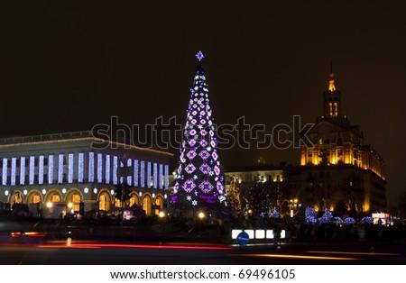 Happy New Year in Kiev - stock photo