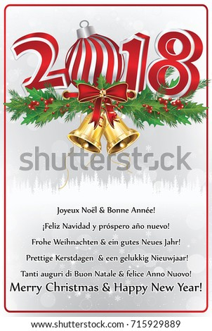 Happy new year 2018 many languages stock illustration 715929889 happy new year 2018 in many languages greeting card 2018 with text in many languages m4hsunfo