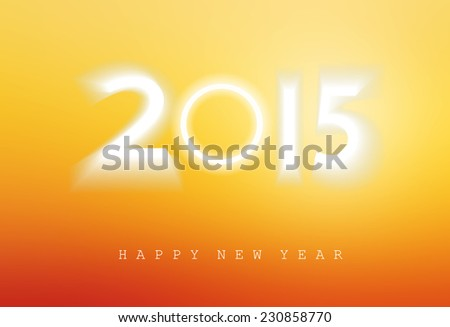 Happy new year 2015, Light blue sky and cloud background. - stock photo