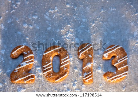 Happy new year 2013 message - stock photo