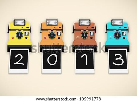 Happy new year 2013 ,new year card - stock photo