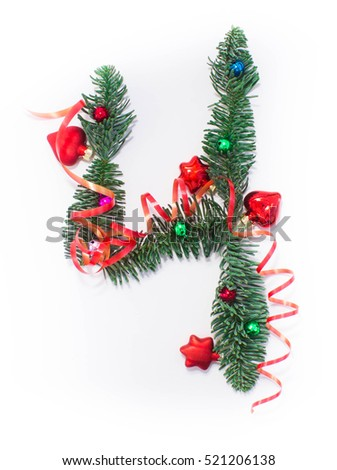 Number 4 stock photos royalty free images vectors for Number 4 decorations