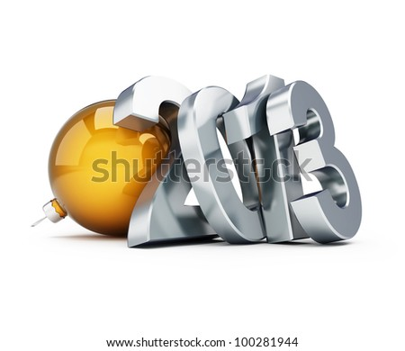 happy new year 2013 on a white background - stock photo