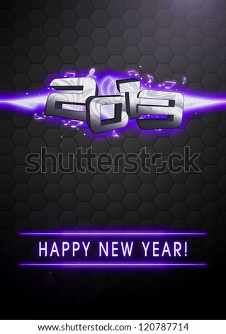 Happy new year 2013 party invitation card or poster background with space - stock photo
