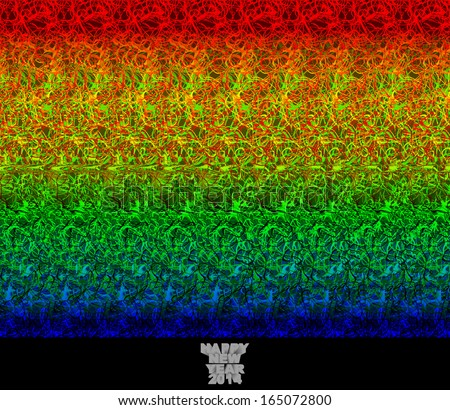 Happy new year 2014 - stereogram - illusion of a 3D image - stock photo