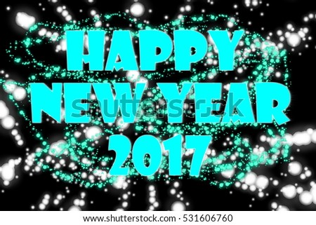 Happy New Year Turquoise 2017