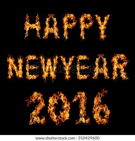 happy new year 2015 word made from sparkler firework light