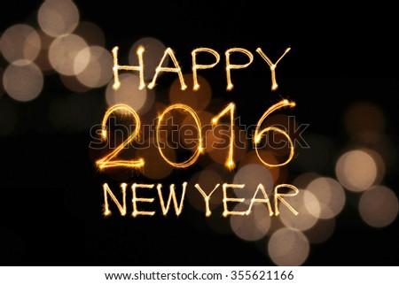 Happy New Year 2016 Write Sparkler Stock Photo (Edit Now) 355621166 ...