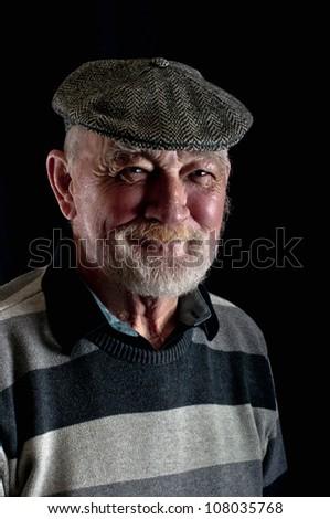 Happy old man - stock photo