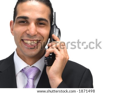 happy on the phone - stock photo