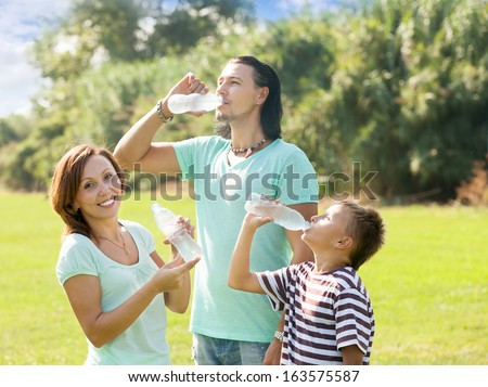 Family Drinking Water Stock Images Royalty Free Images