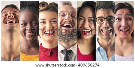 Happy people - stock photo