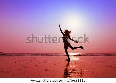 happy people, concept of healthy lifestyle - stock photo