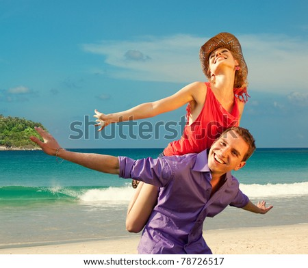 Happy people having fun - stock photo
