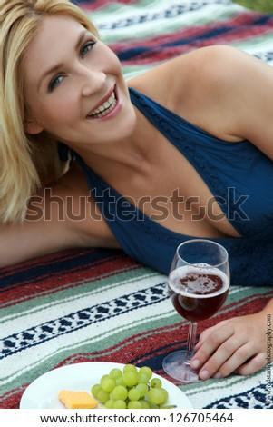 happy picnic - stock photo