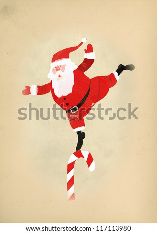 happy santa 2 - stock photo