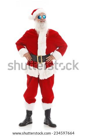 Happy Santa Claus in Christmas - stock photo