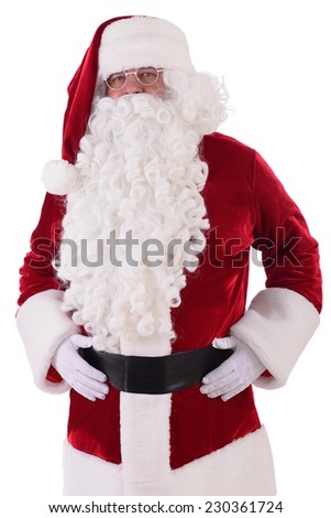 happy Santa Claus. Isolated on white background - stock photo