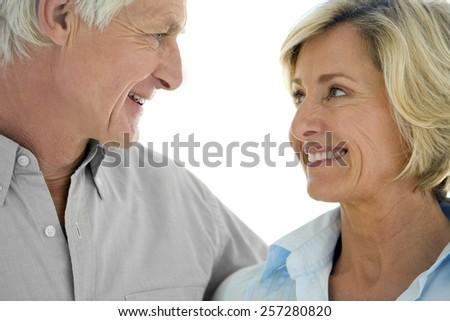Happy senior couple in love - stock photo
