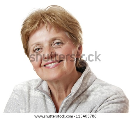 happy senior woman - sixty years old - stock photo
