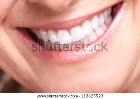 Happy senior woman smile. Dental health.