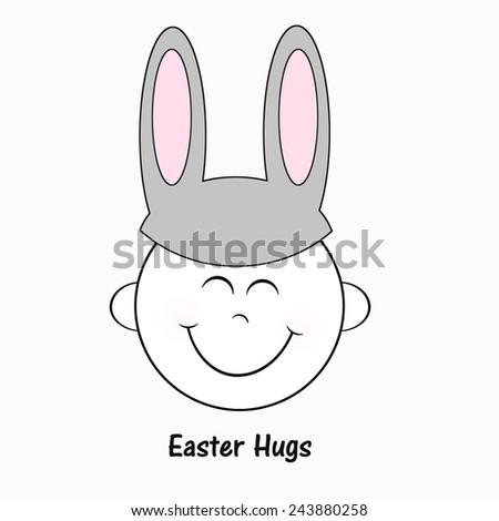 Happy Smile - Easter - stock photo