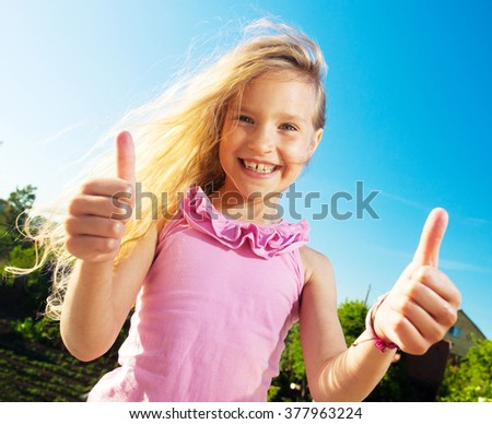Happy smiling child at summer.  - stock photo