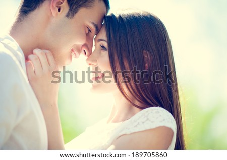 Happy Smiling Couple in love - stock photo