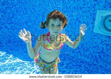 Jaysi 39 s kids family swim underwater set on shutterstock - Swimming pool girl christmas vacation ...