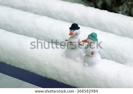 happy snowmen, winter background