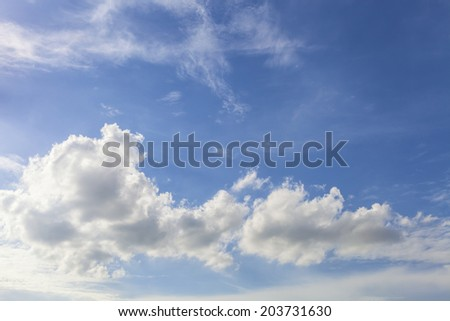 happy soft and light cloud and blue sky for relax seeing, backgr
