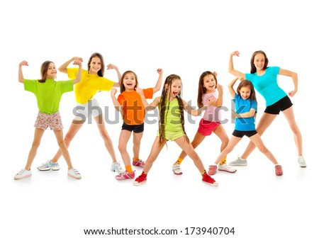 Happy sporty children - stock photo
