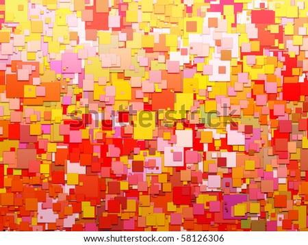Happy Square World - stock photo