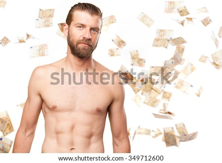 happy strong young man - stock photo