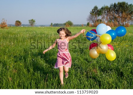 happy summer girl - stock photo