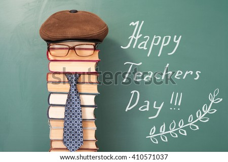 Happy teachers day funny concept